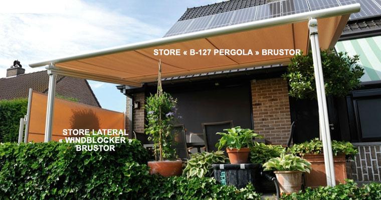 Avis sur le store brustor b 127 pour toiture de v randa ou le b 126 - Store de toiture pour pergola ...