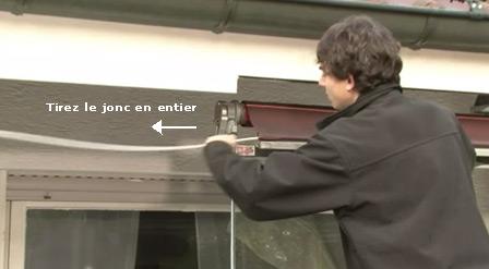 Comment changer et remplacer une toile de store banne for Rideau pour ne pas etre vu de l exterieur