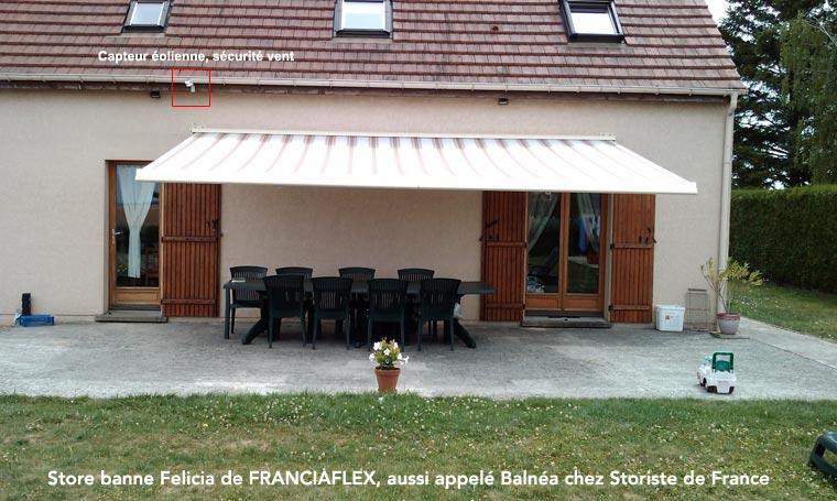 Store banne felicia de franciaflex avec lambrequin modul 39 ombre - Lambrequin store banne ...