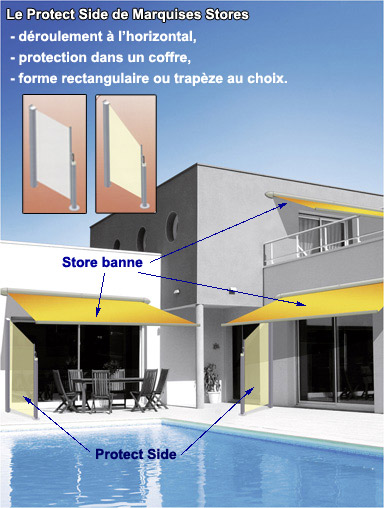 Store Protect Side, protection solaire et vent
