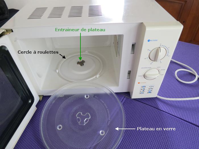 Comment changer un moteur de plateau tournant de micro onde - Micro ondes sans plateau tournant ...