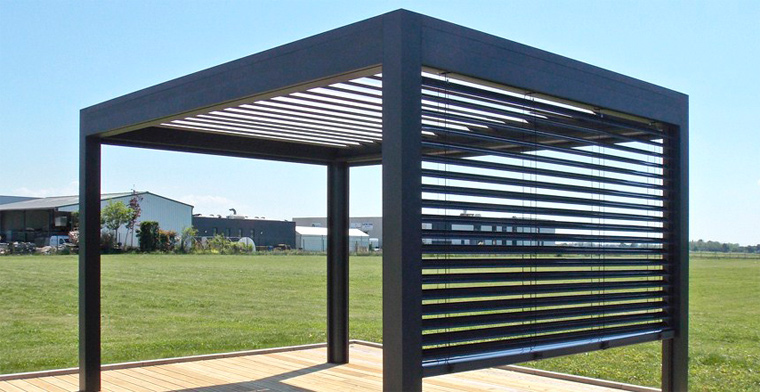 poteau aluminium pour pergola cool ide frache pour tete. Black Bedroom Furniture Sets. Home Design Ideas