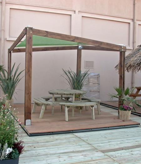 most view pict comment construire une pergola plans et conseils. Black Bedroom Furniture Sets. Home Design Ideas