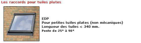 Pose des raccords �tanches Velux, EDP pour tuiles plates