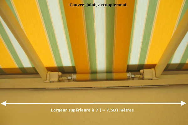 Store banne et couvre-joint