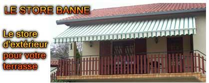 protection solaire store banne pour maison balcon et magasin. Black Bedroom Furniture Sets. Home Design Ideas