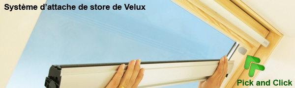 pose de store occultant enrouleur sur velux avec pick and click. Black Bedroom Furniture Sets. Home Design Ideas
